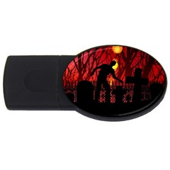 Horror Zombie Ghosts Creepy Usb Flash Drive Oval (4 Gb)