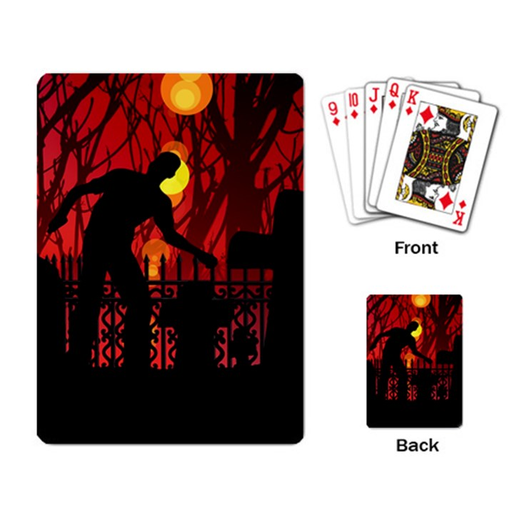 Horror Zombie Ghosts Creepy Playing Card