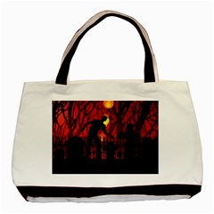 Horror Zombie Ghosts Creepy Basic Tote Bag