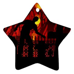 Horror Zombie Ghosts Creepy Star Ornament (two Sides)