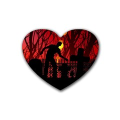 Horror Zombie Ghosts Creepy Heart Coaster (4 Pack)