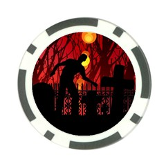 Horror Zombie Ghosts Creepy Poker Chip Card Guards