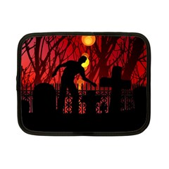 Horror Zombie Ghosts Creepy Netbook Case (small)