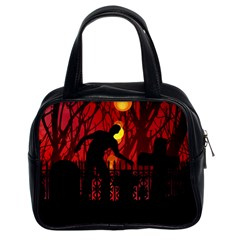 Horror Zombie Ghosts Creepy Classic Handbags (2 Sides)