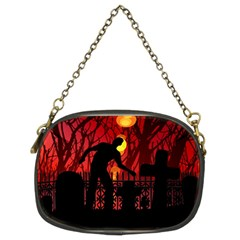 Horror Zombie Ghosts Creepy Chain Purses (two Sides)
