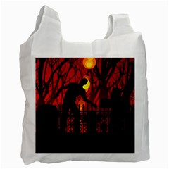 Horror Zombie Ghosts Creepy Recycle Bag (one Side)