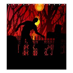 Horror Zombie Ghosts Creepy Shower Curtain 66  X 72  (large)