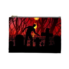 Horror Zombie Ghosts Creepy Cosmetic Bag (large)