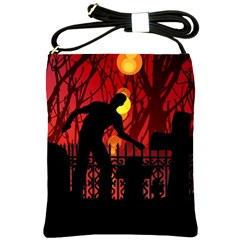 Horror Zombie Ghosts Creepy Shoulder Sling Bags