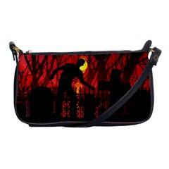 Horror Zombie Ghosts Creepy Shoulder Clutch Bags