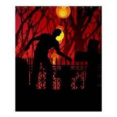 Horror Zombie Ghosts Creepy Shower Curtain 60  X 72  (medium)