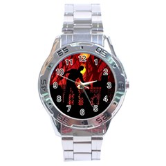 Horror Zombie Ghosts Creepy Stainless Steel Analogue Watch