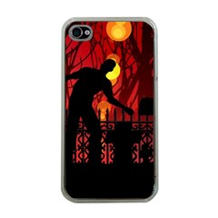 Horror Zombie Ghosts Creepy Apple Iphone 4 Case (clear)