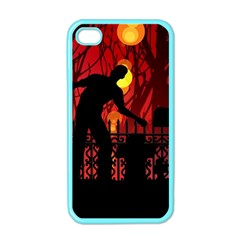Horror Zombie Ghosts Creepy Apple Iphone 4 Case (color)