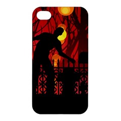 Horror Zombie Ghosts Creepy Apple Iphone 4/4s Premium Hardshell Case