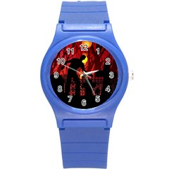 Horror Zombie Ghosts Creepy Round Plastic Sport Watch (s)