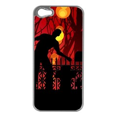 Horror Zombie Ghosts Creepy Apple Iphone 5 Case (silver)