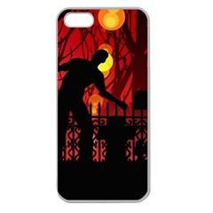 Horror Zombie Ghosts Creepy Apple Seamless Iphone 5 Case (clear)