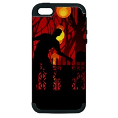 Horror Zombie Ghosts Creepy Apple Iphone 5 Hardshell Case (pc+silicone)