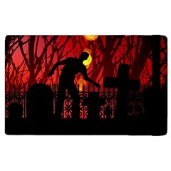 Horror Zombie Ghosts Creepy Apple Ipad 2 Flip Case