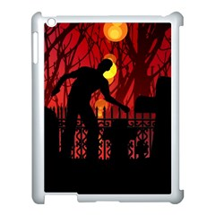 Horror Zombie Ghosts Creepy Apple Ipad 3/4 Case (white)