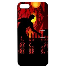 Horror Zombie Ghosts Creepy Apple Iphone 5 Hardshell Case With Stand