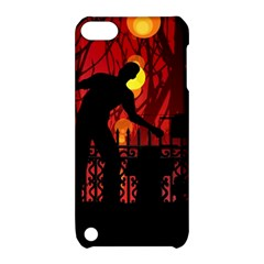 Horror Zombie Ghosts Creepy Apple Ipod Touch 5 Hardshell Case With Stand