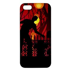 Horror Zombie Ghosts Creepy Apple Iphone 5 Premium Hardshell Case
