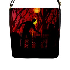 Horror Zombie Ghosts Creepy Flap Messenger Bag (l)