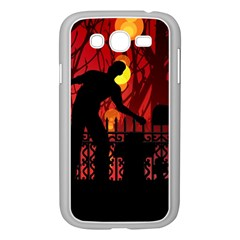 Horror Zombie Ghosts Creepy Samsung Galaxy Grand Duos I9082 Case (white)