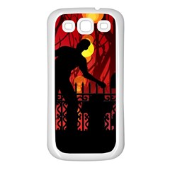 Horror Zombie Ghosts Creepy Samsung Galaxy S3 Back Case (white)