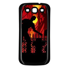 Horror Zombie Ghosts Creepy Samsung Galaxy S3 Back Case (black)