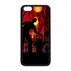 Horror Zombie Ghosts Creepy Apple Iphone 5c Seamless Case (black)