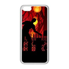Horror Zombie Ghosts Creepy Apple Iphone 5c Seamless Case (white)