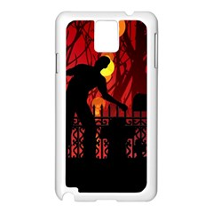 Horror Zombie Ghosts Creepy Samsung Galaxy Note 3 N9005 Case (white)