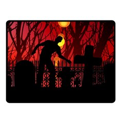 Horror Zombie Ghosts Creepy Double Sided Fleece Blanket (small)