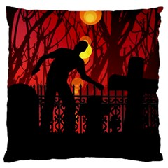 Horror Zombie Ghosts Creepy Standard Flano Cushion Case (two Sides)