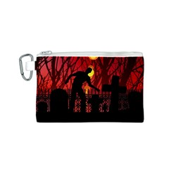 Horror Zombie Ghosts Creepy Canvas Cosmetic Bag (s)