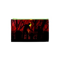 Horror Zombie Ghosts Creepy Cosmetic Bag (XS)