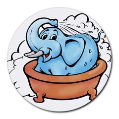 Elephant Bad Shower Round Mousepads