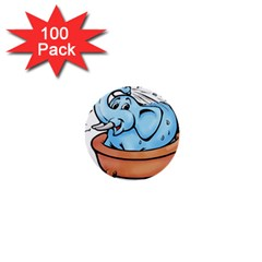 Elephant Bad Shower 1  Mini Buttons (100 pack)