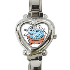 Elephant Bad Shower Heart Italian Charm Watch