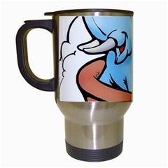 Elephant Bad Shower Travel Mugs (White)