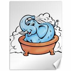 Elephant Bad Shower Canvas 36  X 48