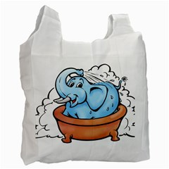 Elephant Bad Shower Recycle Bag (one Side)