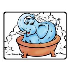 Elephant Bad Shower Fleece Blanket (small)