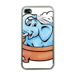Elephant Bad Shower Apple Iphone 4 Case (clear)