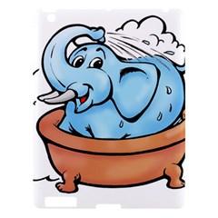 Elephant Bad Shower Apple Ipad 3/4 Hardshell Case