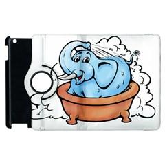 Elephant Bad Shower Apple Ipad 3/4 Flip 360 Case