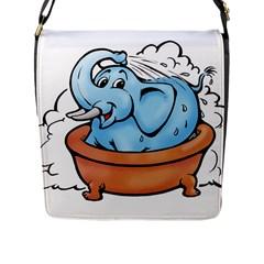 Elephant Bad Shower Flap Messenger Bag (l)